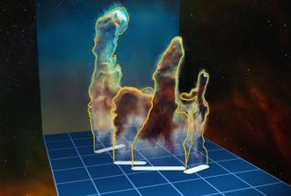 Illustration for article titled The Pillars of Creation Will Disappear in a Cosmic Blink