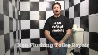 Unclog a Toilet With a Mop and Plastic Bag When