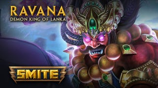 "Smite continues to stretch the definition of ""god"" with Ravana, the Demon King of Lanka. Available in today's big Combo Breaker update for the PC MOBA, Ravana achieved something akin to godhood by cutting off his own head 10 times. Show off."