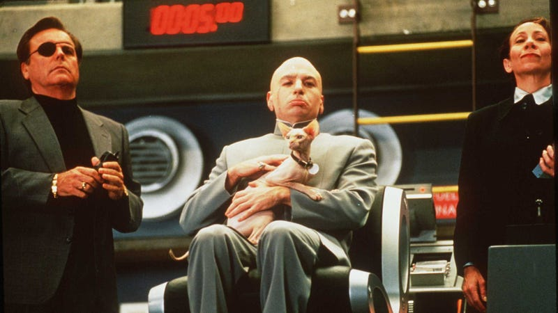 """Come, Mr. Bigglesworth, for Mike Myers says a new Austin Powers movie is """"looking good"""""""
