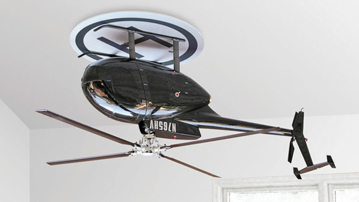 An upside down helicopter makes for one bad ass ceiling fan aloadofball Images