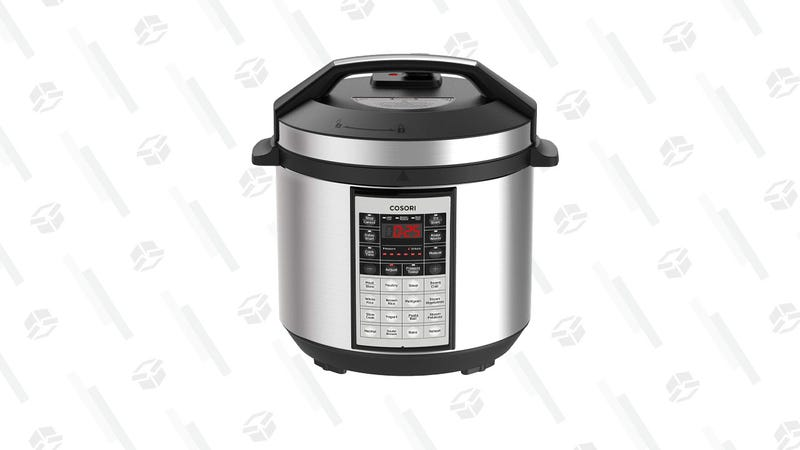 Cosori Electric Pressure Cooker 6 Qt 8-in-1 Instant Stainless Steel Pot | $50 | Amazon