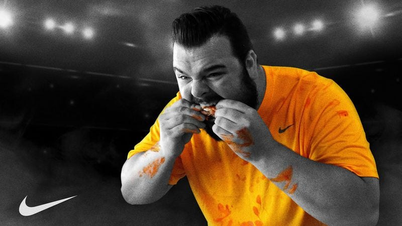Illustration for article titled Nike Introduces New Line Of Sauce-Wicking Competitive Eating Apparel