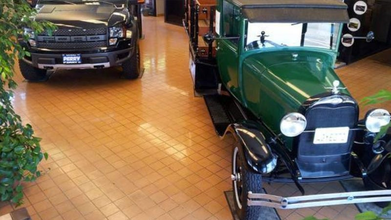 Illustration for article titled Man Makes World's Oldest Trade-in: A 1929 Ford Truck For Two 2012 Ford Trucks