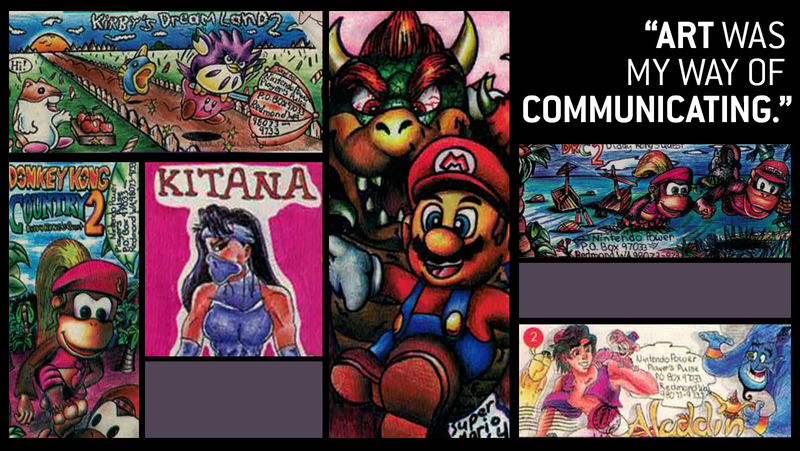 Illustration for article titled Back In The '90s,Nintendo Power Helped A Shy Fan Show Her Envelope Art To The World
