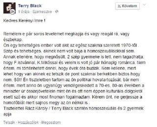 Illustration for article titled Terry Black lecsapott Kerényi Imrére