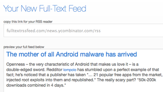 Full Text RSS Feed Builder Rids You of Truncated RSS Feeds