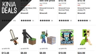 Illustration for article titled Adorn Your Desk With Discounted Minecraft Toys