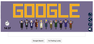 Illustration for article titled Doctor Who gets a Google Doodle!