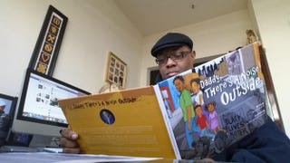 Kenneth Braswell reading Daddy, There's a Noise OutsideCourtesy of Kenneth Braswell