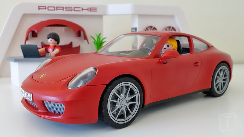 Illustration for article titled Someone Forgot to Tell Playmobil That a Toy Porsche Shouldn't Look This Wonderful