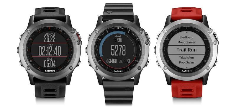 Illustration for article titled Garmin's fēnix3 Multisport GPS Watch Keeps Its Active Side Secret