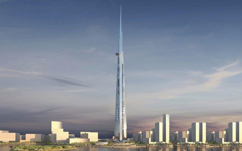 Illustration for article titled Jeddah Tower, el primer edificio con 1 kilómetro de altura, estará listo en 2020