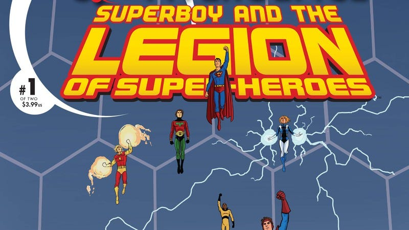 Illustration for article titled Exclusive DC preview: Convergence: Superboy And The Legion Of Super-Heroes goes back to the future