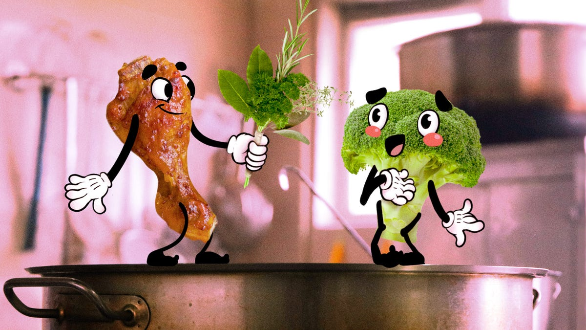 Want great vegetables? Cook them in meat