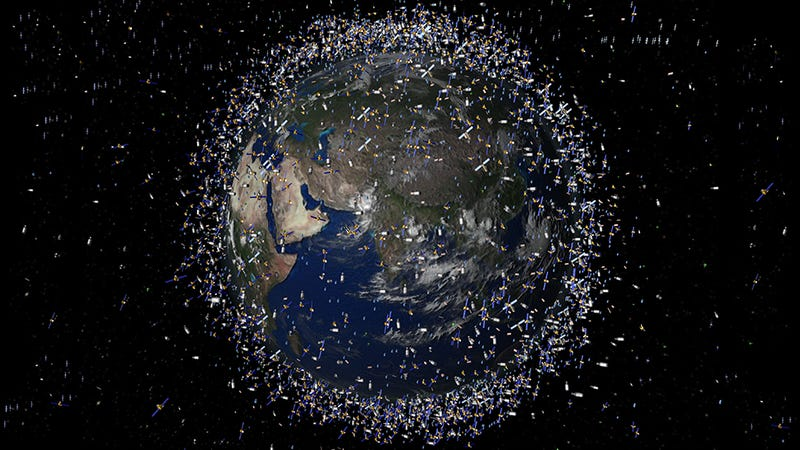 Illustration for article titled Japan's Launching a Giant Net Into Orbit to Scoop Up Space Junk