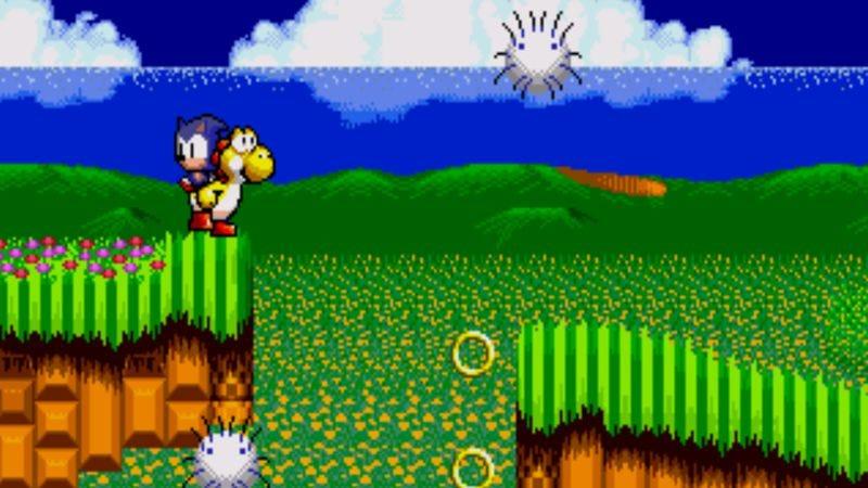 Screenshot: Yoshi In Sonic The Hedgehog 2