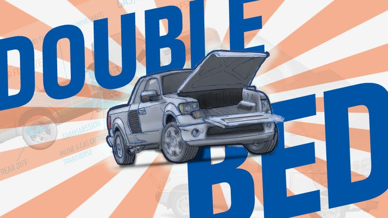Illustration for article titled The Double-Bed Truck Will Revolutionize Pickups