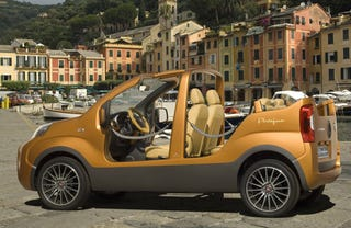 Illustration for article titled Fiat Portofino Concept Adds Nautical Vibe, Subtracts Doors, Roof, Floor