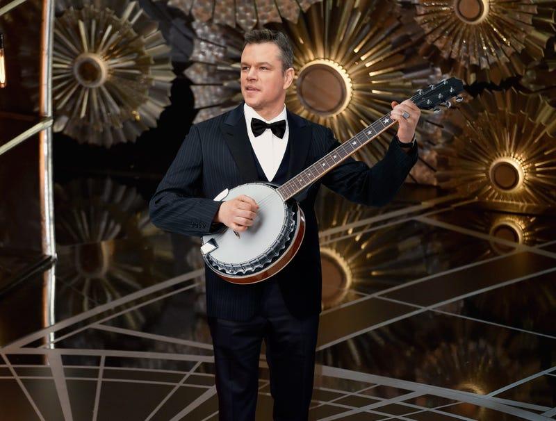 Illustration for article titled Banjo-Wielding Matt Damon Makes Last-Minute Bid For Best Original Song