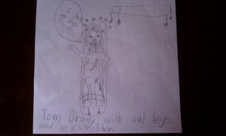 Illustration for article titled Nine-Year-Old Jets Fan Envisions Tom Brady Bleeding To Death On The Field Monday Night