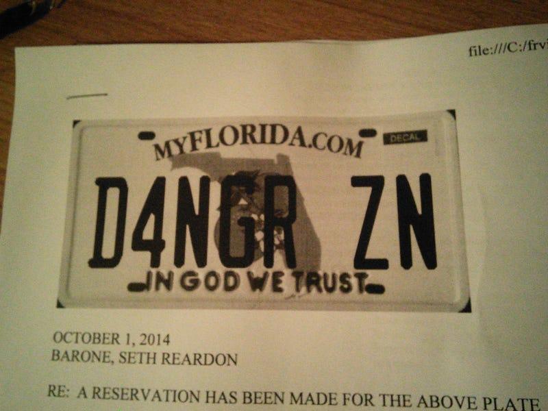 Illustration for article titled Best license plate ever? Best license plate ever.