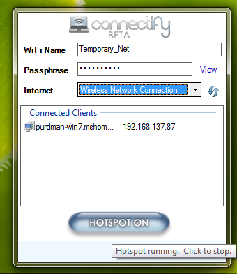 Illustration for article titled Connectify Restores Wi-Fi Hotspot Powers to Windows 7