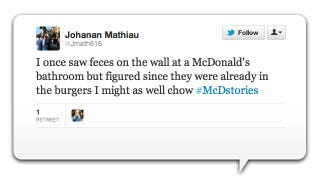 Illustration for article titled McDonald's Twitter Marketing Turns into Disgusting Customer Revolt