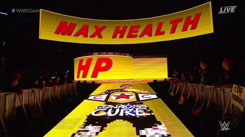 Illustration for article titled New WWE Star's Ring Entrance Is Straight Out Of A Video Game