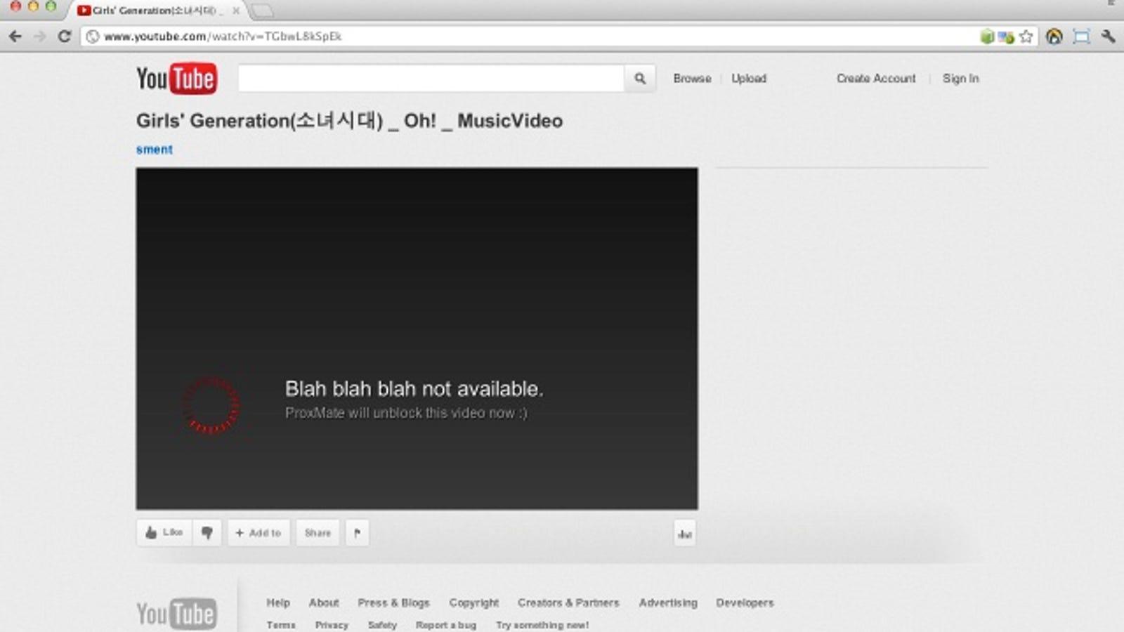 ProxMate Unblocks Region Specific YouTube, Grooveshark, and