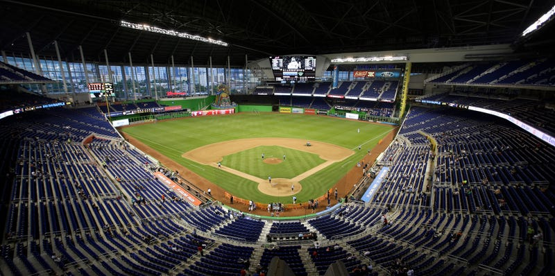 Marlins Park last fall. (Photo credit: Wilfredo Lee/AP)
