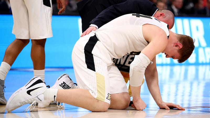 Illustration for article titled Purdue Loses Isaac Haas For The Rest Of The NCAA Tournament