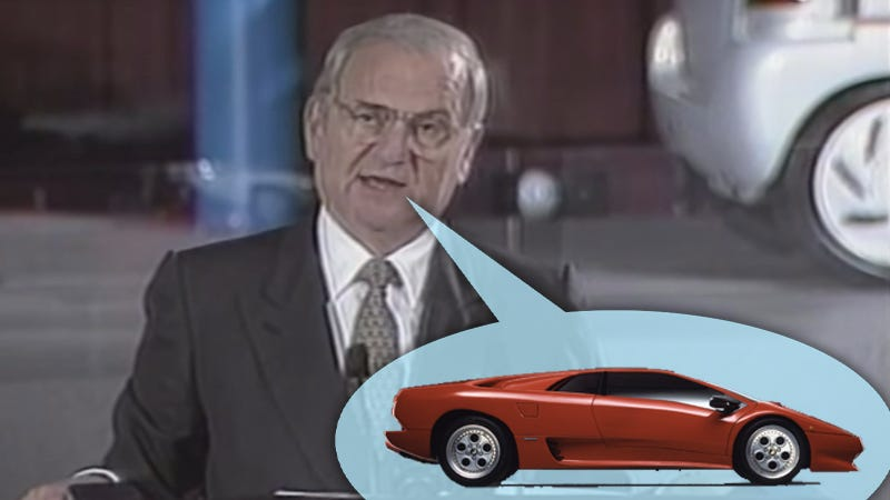 Illustration for article titled Lee Iacocca Introduced the Lamborghini Diablo and Dodge Stealth Together in 1991