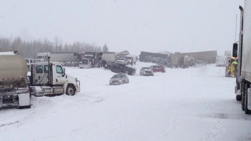 Illustration for article titled Massive Canadian Pile-Up Crash Sends 100 People To The Hospital (Updated)