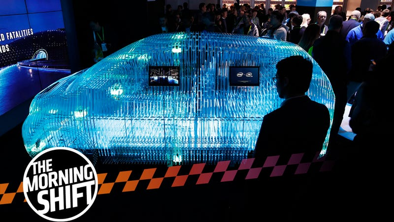 A model of a car displays Intel Mobileye sensor technology at the Intel booth during CES International, Tuesday, Jan. 9, 2018, in Las Vegas. (AP Photo/John Locher)