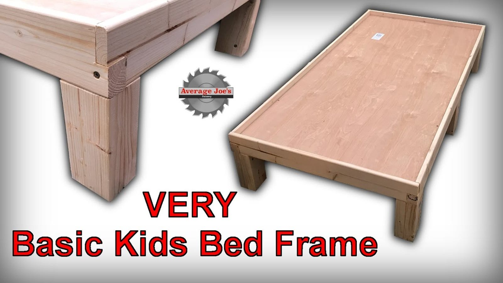 Build a Basic Kid's Bed Frame You Can Easily Customize