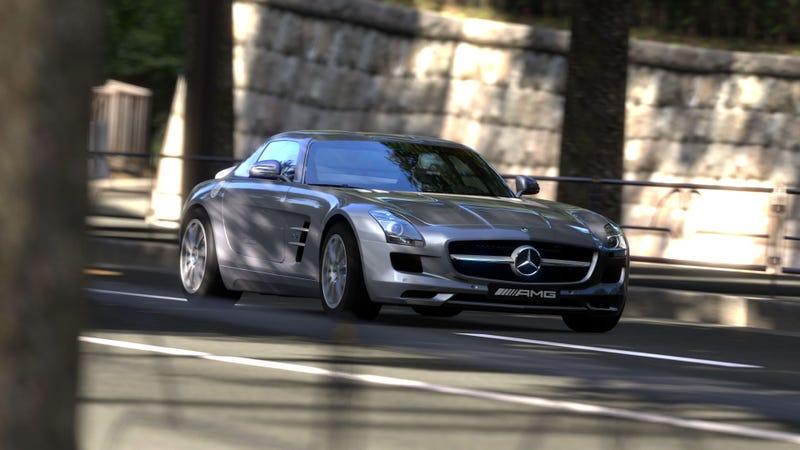 Illustration for article titled Gran Turismo 5 - Mercedes SLS AMG
