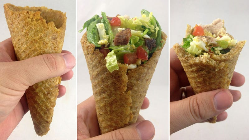 Illustration for article titled A Cobb Salad In a Crouton Cone Is a Fantastic Way To Eat Healthy