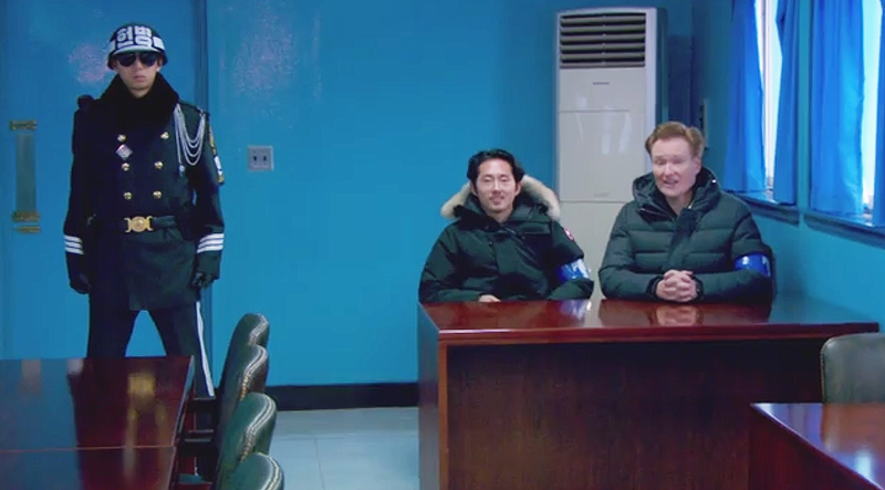 Illustration for article titled Watch Conan O'Brien Rag On Korean Soldiers In The Demilitarized Zone