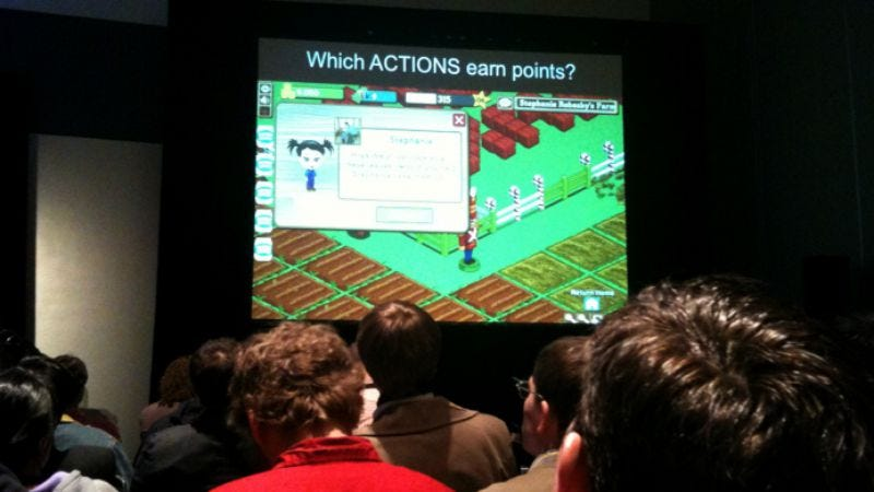 Illustration for article titled AVC at GDC '10, Day One: Which actions earn points? Which actions piss you off?