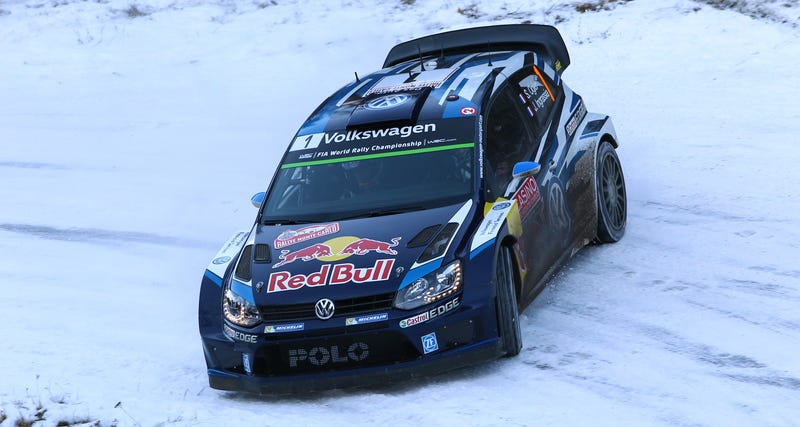 Illustration for article titled Volkswagen Makes Clean Sweep At Rallye Monte Carlo, Ogier In The Lead