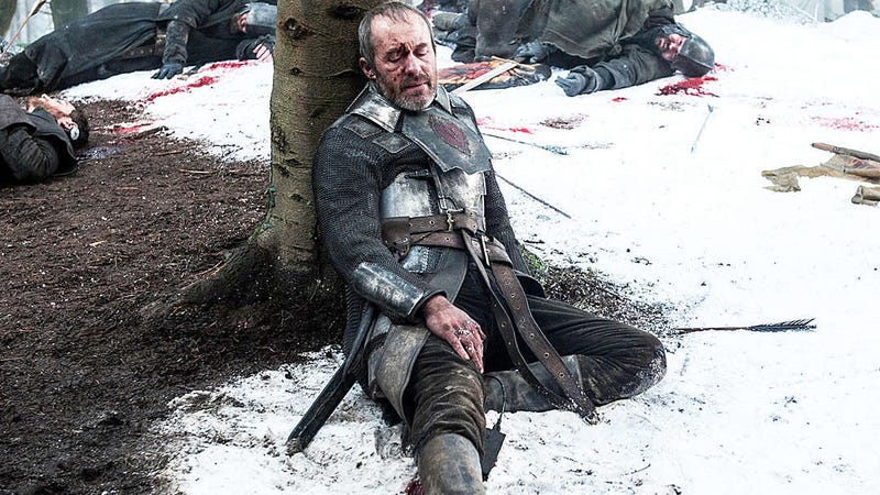 Whatcha got plugged in there, Stannis? All photos and images: HBO.