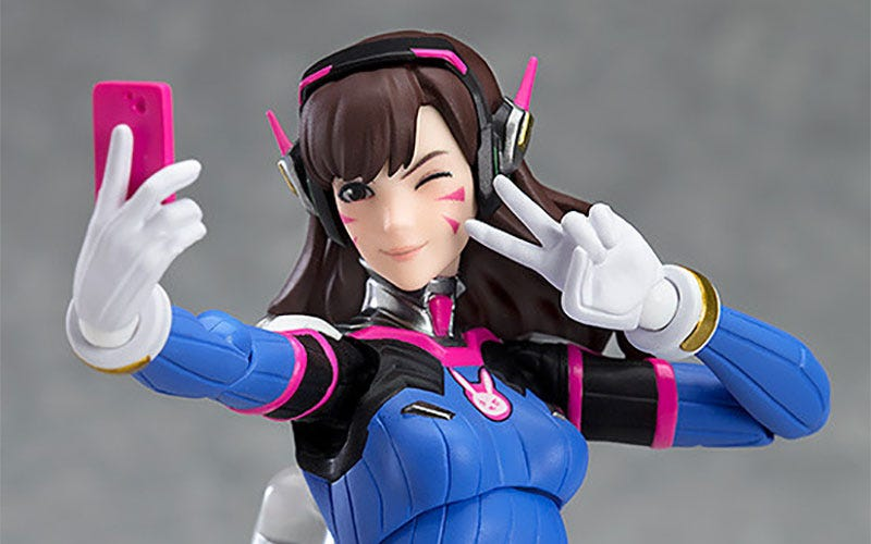 Illustration for article titled D.Va Action Figure Is Pretty Much Perfect