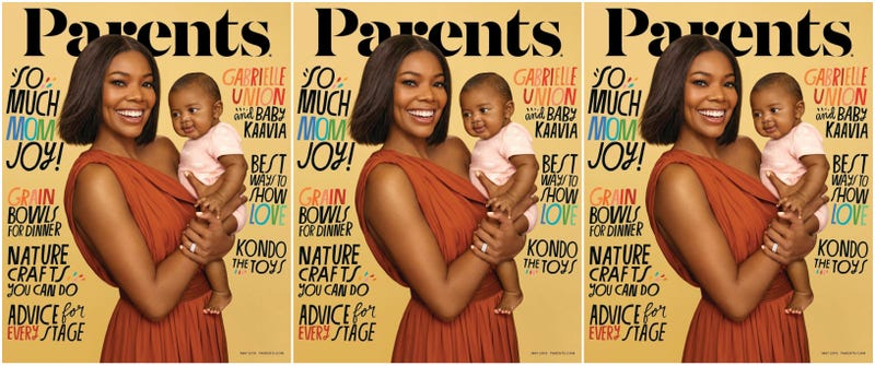 Illustration for article titled Kaavia's 1st Cover: Gabrielle Union and Her Baby Daughter Make Their Debut on Parents Magazine
