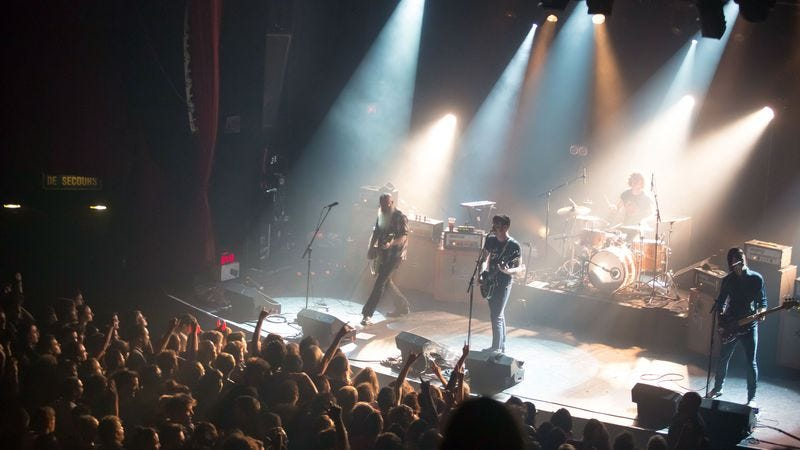 Eagles Of Death Metal perform at the Bataclan moments before the attacks occurred. (Photo: Getty Images)