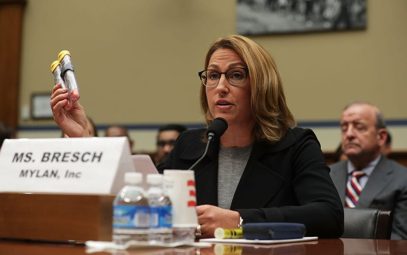 Mylan CEO Heather Bresch, seen lying to the House Oversight and Government Reform Committee on September 21, 2016 (Photo by Alex Wong/Getty Images)