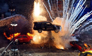 Illustration for article titled The Ten Cheesiest Hollywood Car Explosions
