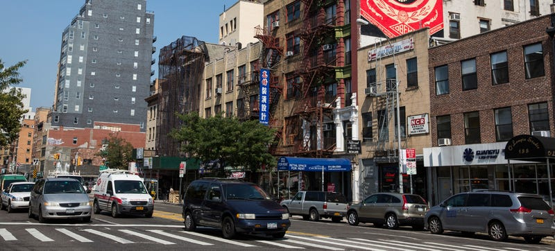 Image of Bowery on Manhattan's Lower East Side. Credit: Andrew Burton/Getty