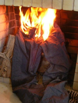 Illustration for article titled Policeman Tases Guy, Sets His Pants on Fire