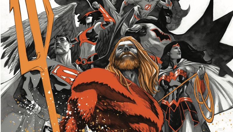 "Illustration for article titled The Justice League heads toward ""Drowned Earth"" in this exclusive preview"